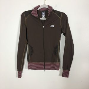 The North Face Brown Zip Up Workout Jacket